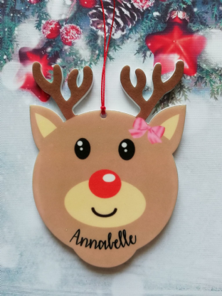 Cute Reindeer Christmas Ornament Decoration